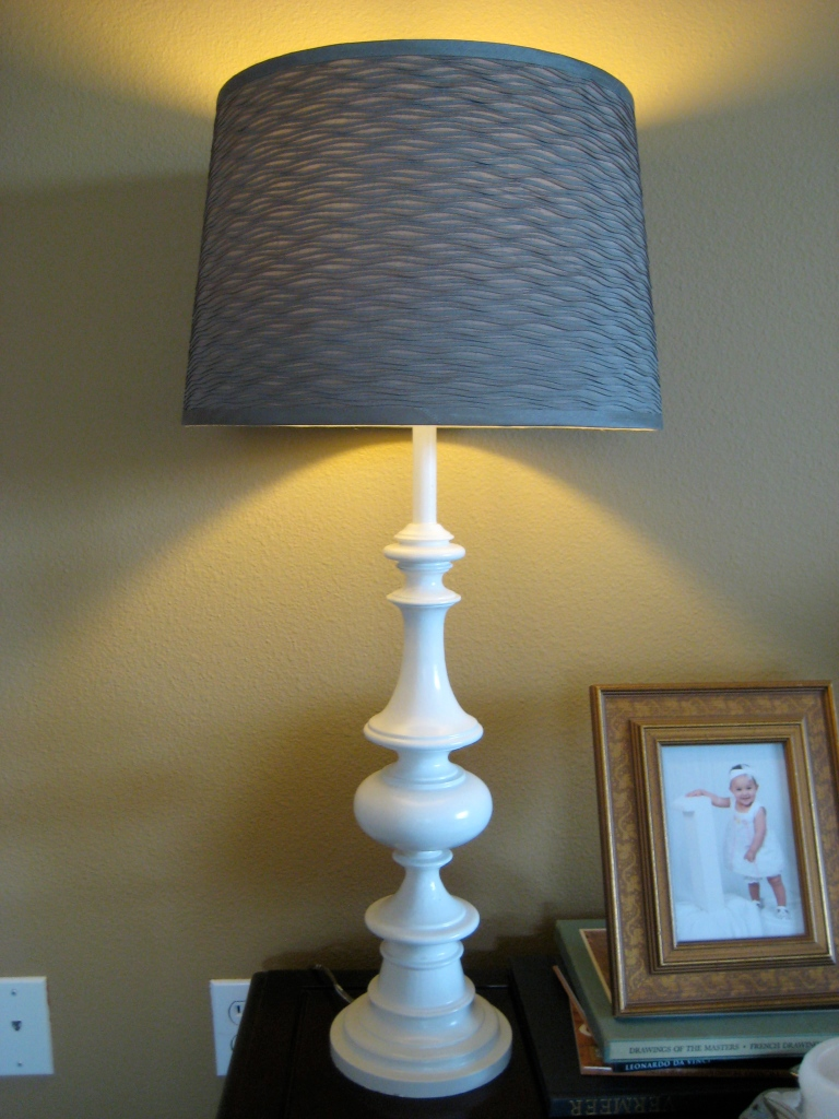 Remodelaholic From Brass To White Table Lamp Revamp
