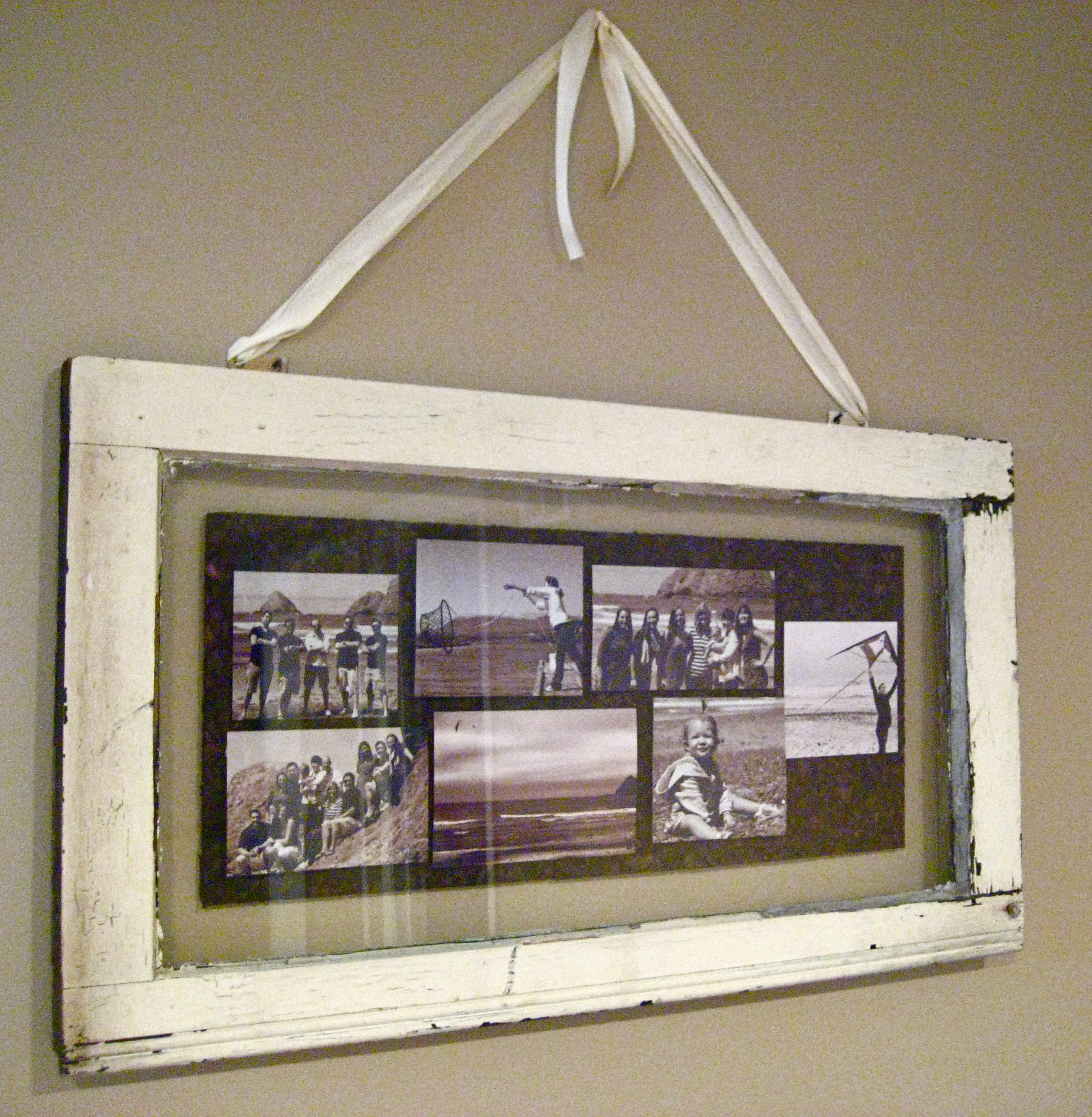 vintage window shadowbox photo collage room to think