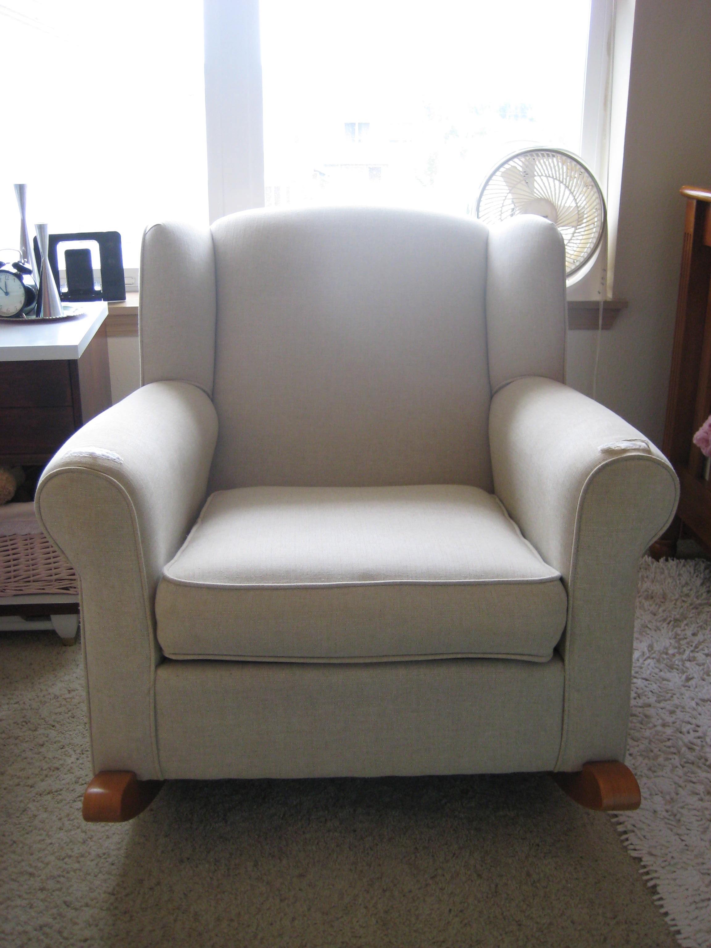 Charmant How To Reupholster A Wingback Rocker Part I